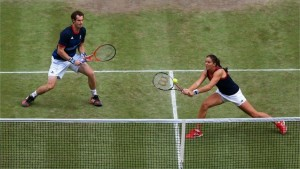 mixed doubles tennis